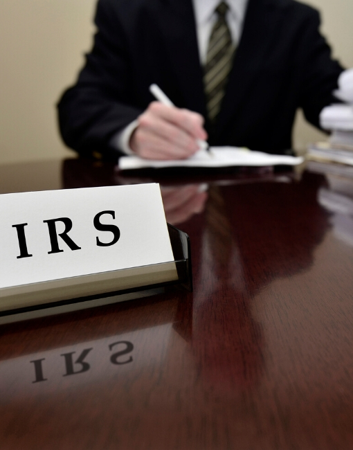 image representing an IRS audit