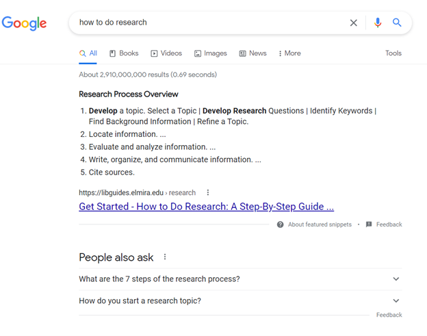 use all of google's tools when doing research